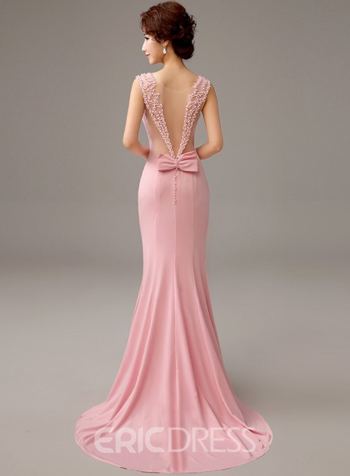 Ericdress Classy Bowknot Mermaid Court Train Evening Dress