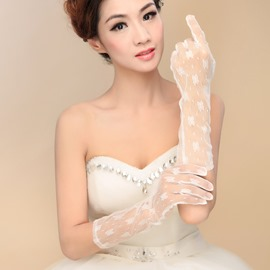 Ericdress Ivory Lace Wedding Gloves