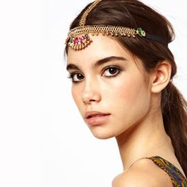 Fantastic Vintage Style Metallic Hair Band for Women