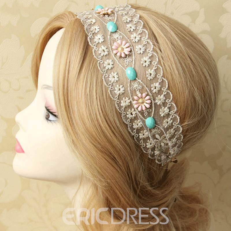 Pretty Daisy Lace Hair Band for Women