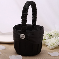Pure Flower Basket in Satin With Rhinestone thumbnail