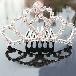 Pretty Rhinestone Flower Girl Tiaras