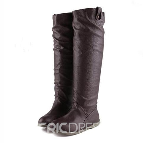 Sweet Solid Color Knee High Boots