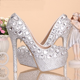 Ericdress European Popular Crystal High-heel Wedding Shoes