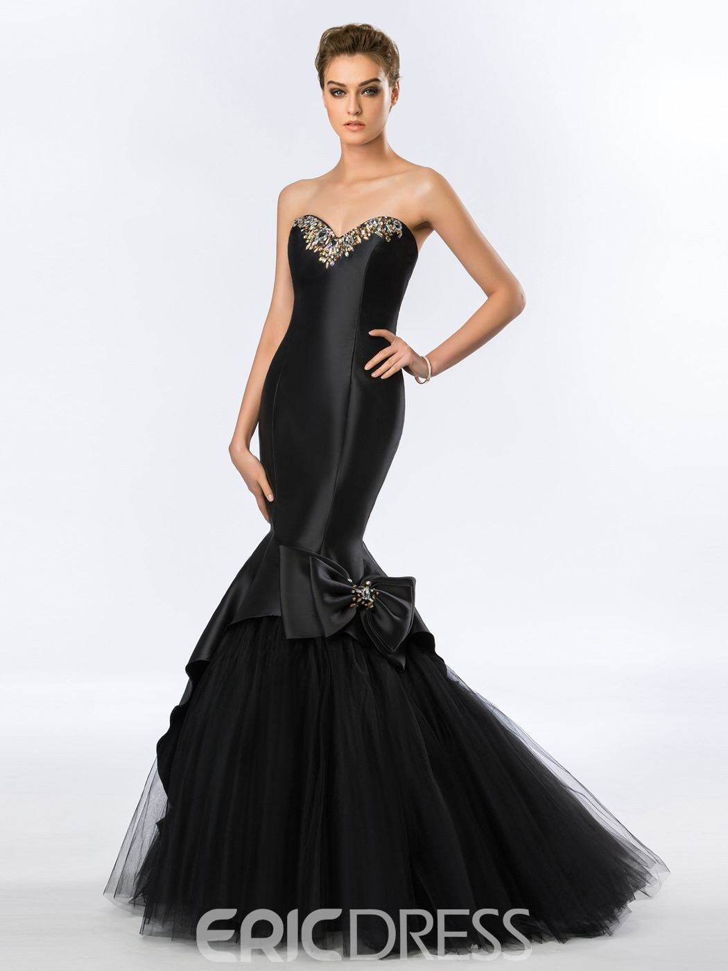 Sweetheart Bowknot Mermaid Long Evening Dress