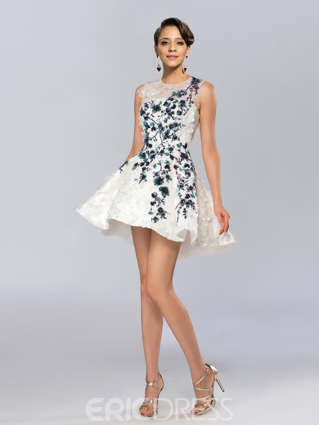 Applique Cocktail Dress