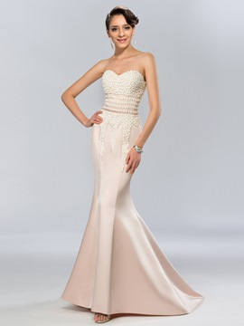 Charming Sweetheart Beading Mermaid Long Evening Dress