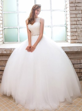 Ericdress Ball Gown Sequins Lace Wedding Dress