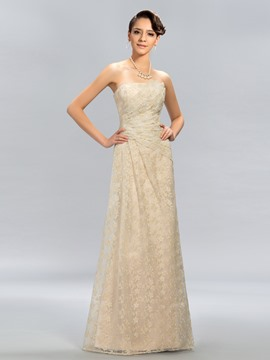 Charming Strapless A-Line Long Evening Dress