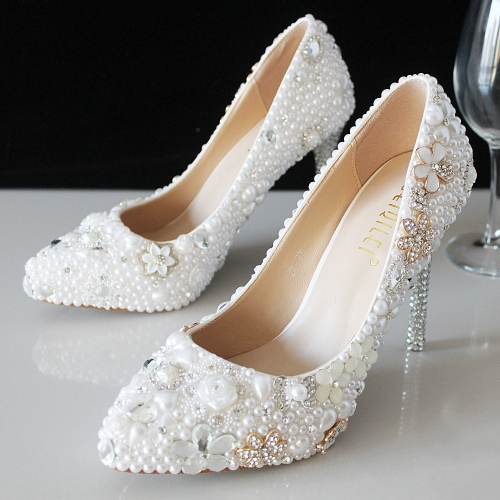 pearl wedding shoes,