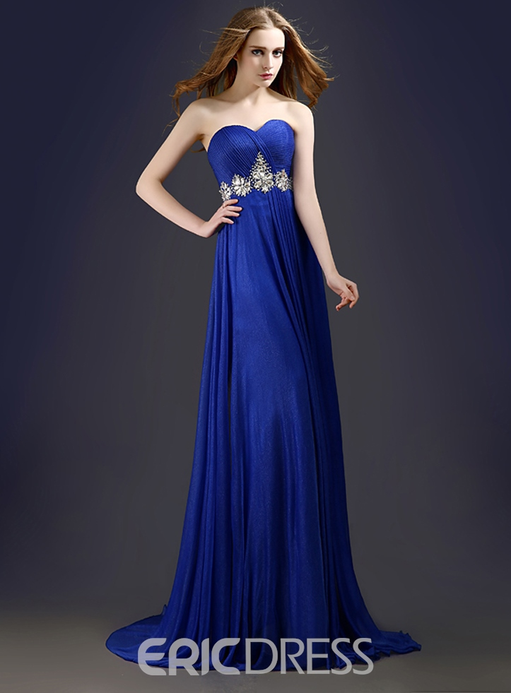 Ericdress Stunning A-Line Sweetheart Beading Long Prom Dress
