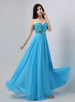 Ericdress Epidemic Sweetheart Beaded Floor-Length Prom Dress