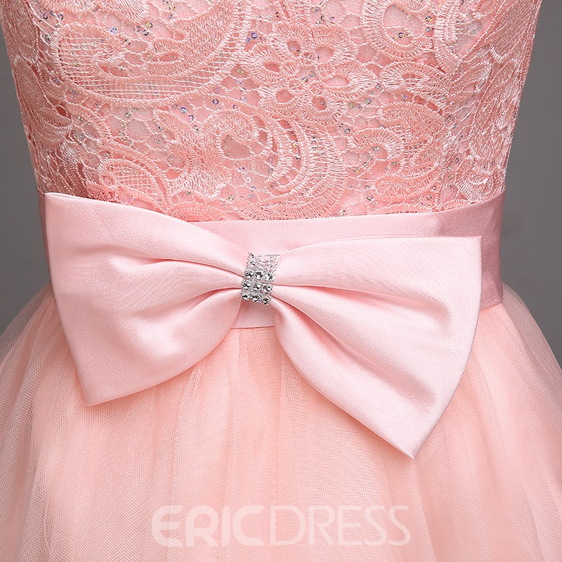 9306ad5dc0f Sweet Cap Sleeves Bowknot Short Mini Junior Prom Dress 11274055 ...