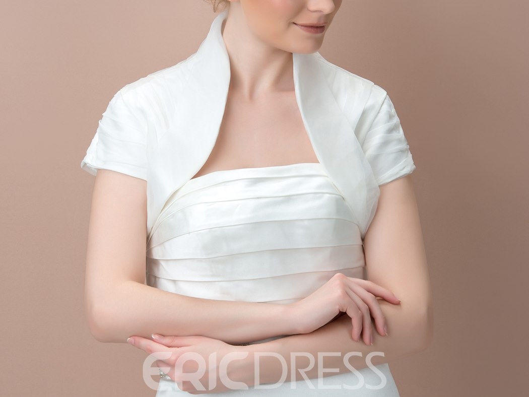 Short Sleeves Short Length Wedding Jacket