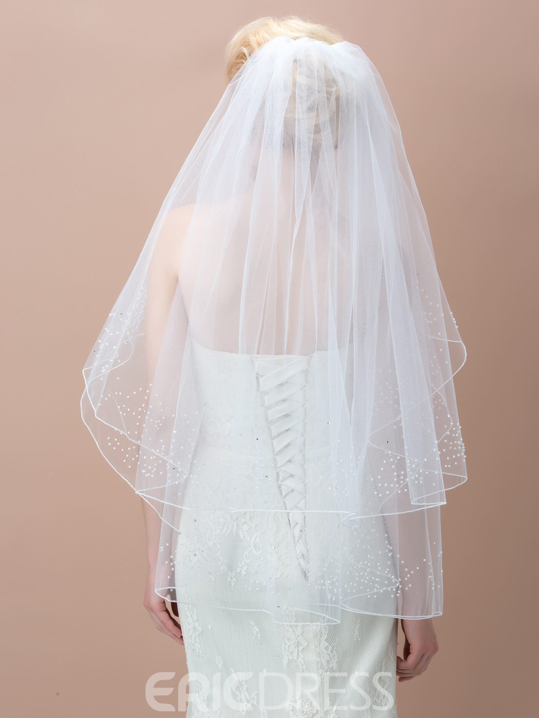 Ericdress Charming White Bridal Veil