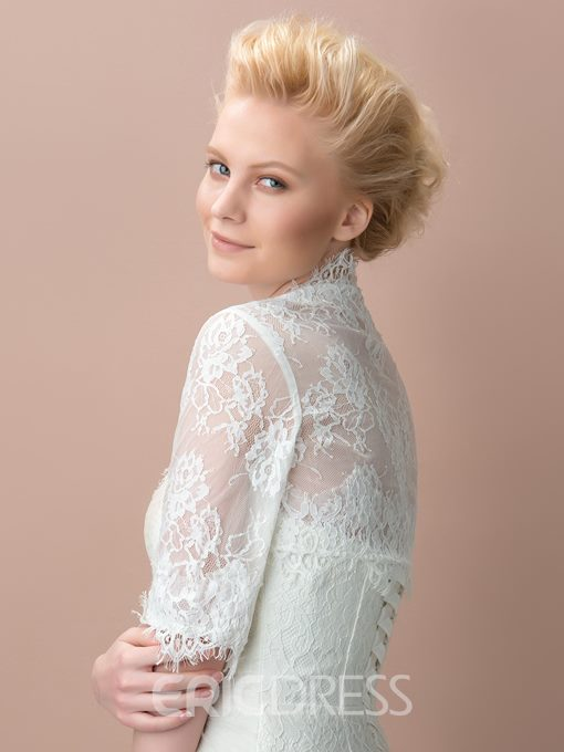 Lace Half Sleeves Wedding Jacket