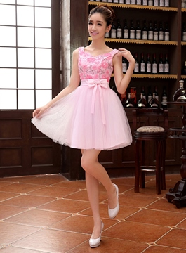 Ericdress Greatest A-Line Bowknot Short/Mini Length Homecoming Dress