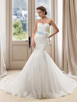 Amazing Sweetheart Mermaid Wedding Dress