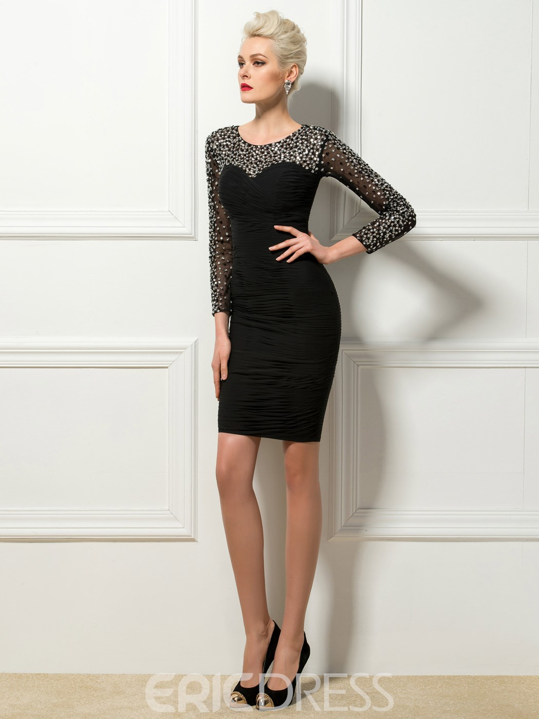 Charming Sheath Scoop Neck Short Cocktail Dress