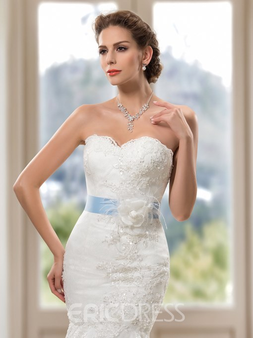 Ericdress Sweetheart Appliques Sequins Mermaid Wedding Dress
