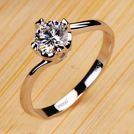 Ericdress Heart and Arrows NSCD Diamond Ring