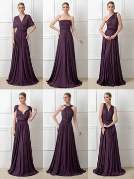 Ericdress Fancy Cabrio lange Brautjungfer Kleid