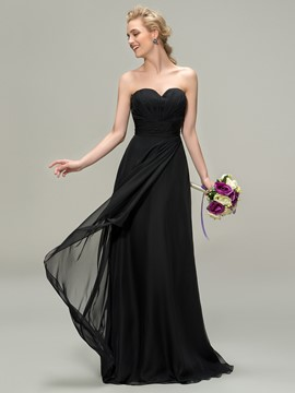 A-Line Sweetheart Zipper-Up Bridesmaid Dress