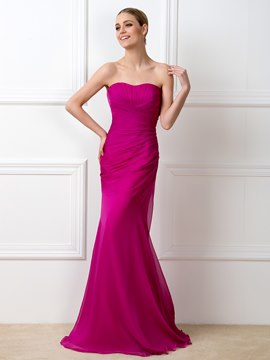 Ericdress Simple Sweetheart Sheath Long Bridesmaid Dress