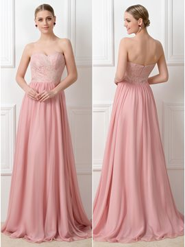 Pretty A-Line Lace Zipper-up Long Convertible Bridesmaid Dress