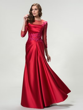 Ericdress 3/4 Sleeves Mermaid Appliques Long Evening Dress