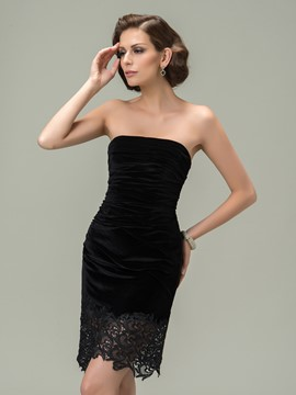 Sexy Sheath Strapless Short/Mini Length Cocktail Dress
