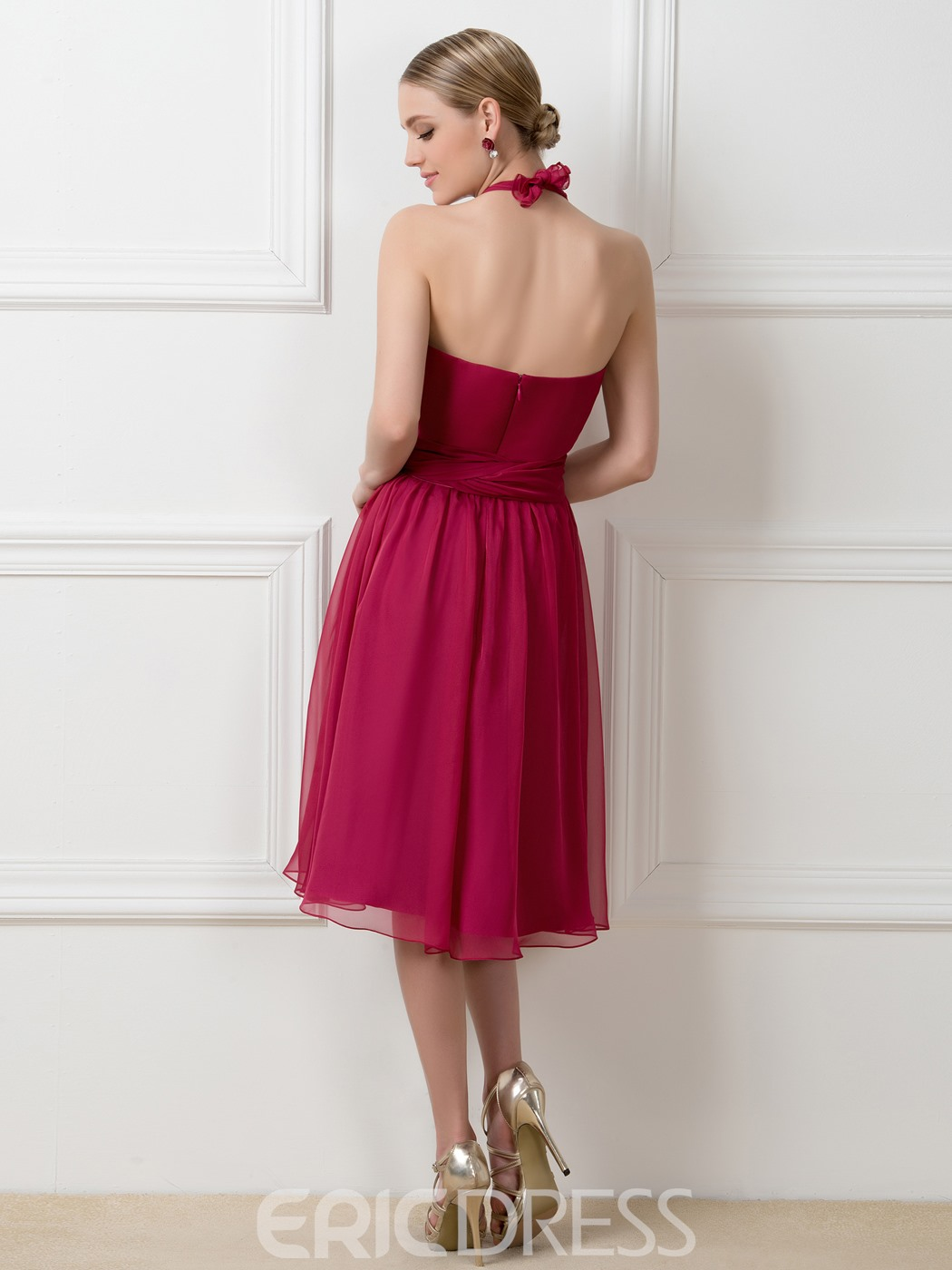 Ericdress Stylish A-Line Tea-Length Convertible Bridesmaid Dress
