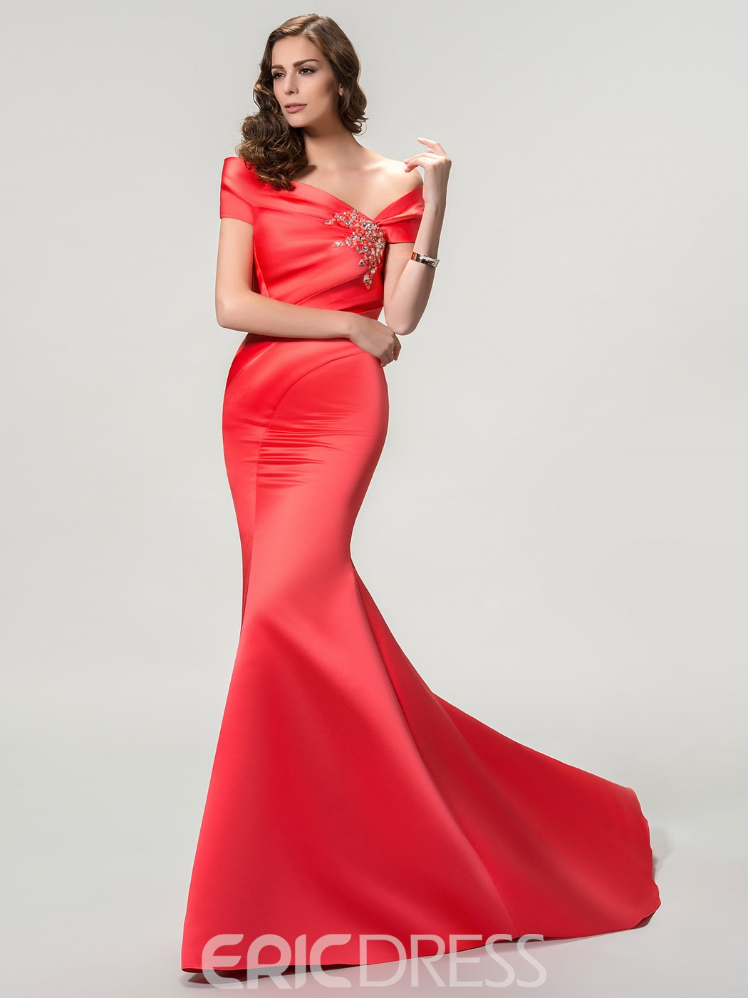 Concise Off The Shoulder Mermaid/Trumpet Evening Dress