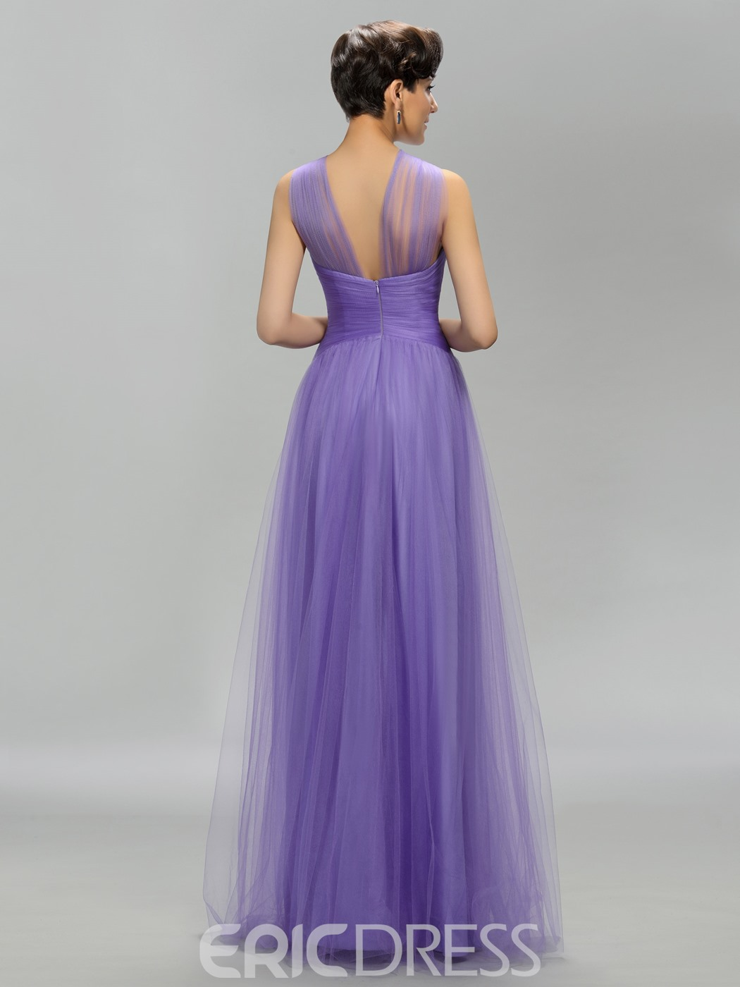 Halter A-Line Floor-Length Long Prom Dress