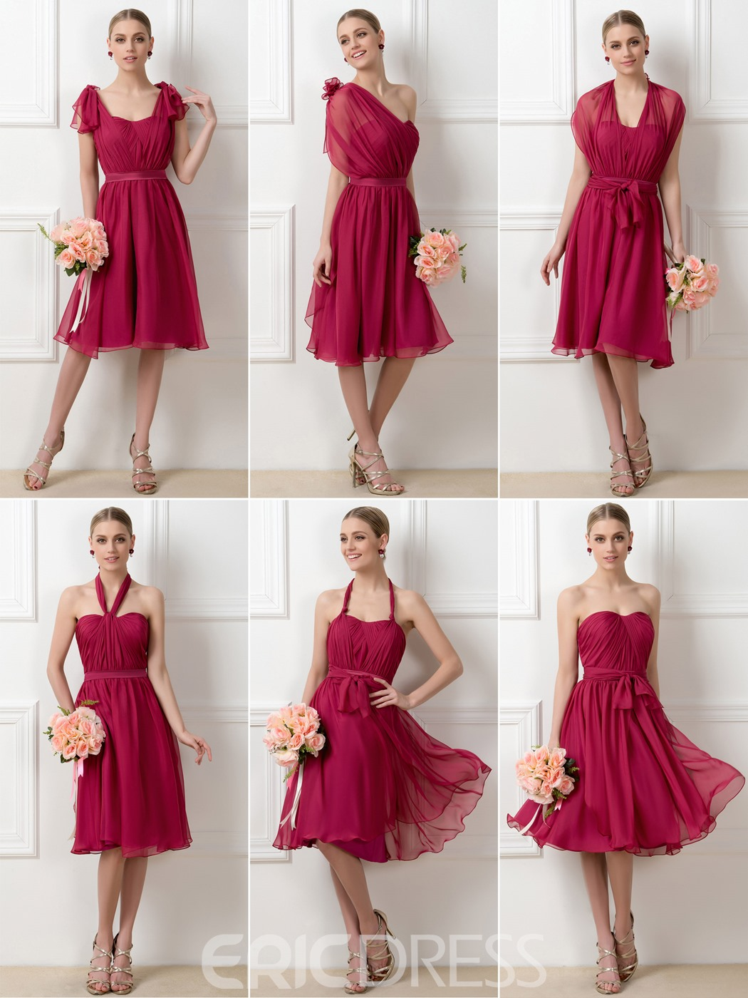 Bridesmaid dresses 2015 cheap bridesmaids dresses for sale ericdress stylish a line tea length convertible bridesmaid dress ombrellifo Image collections