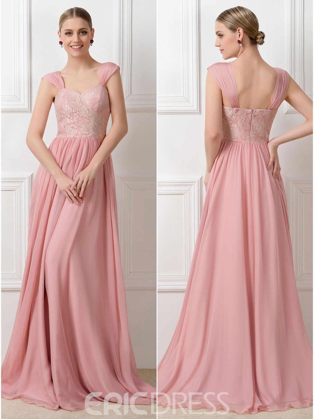 Ericdress Lace Convertible Long Bridesmaid Dress