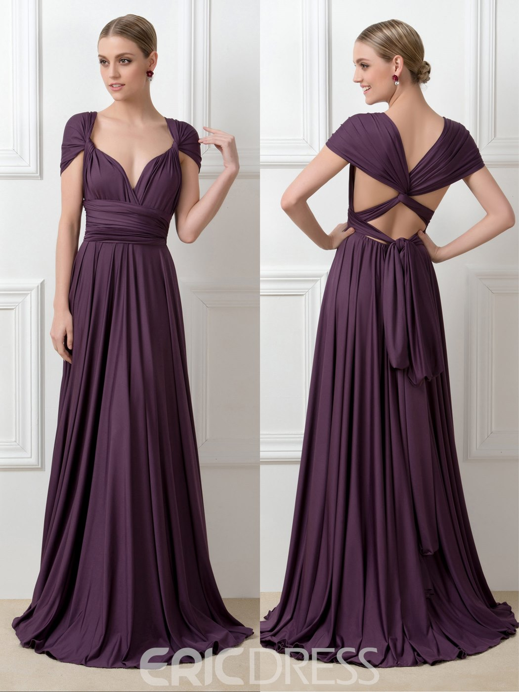 Ericdress Fancy Convertible Long Bridesmaid Dress