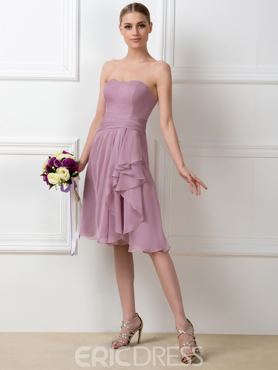 Pretty Sweetheart High Low Bridesmaid Dress
