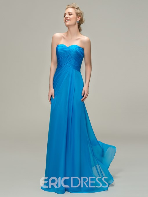 Ericdress A-line Sweetheart Long Bridesmaid Dress