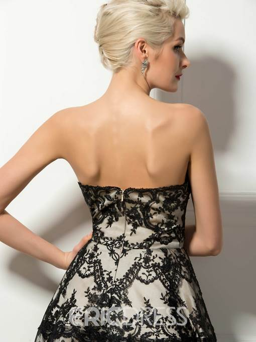 Timeless Lace A-Line Knee-Length Cocktail Dress