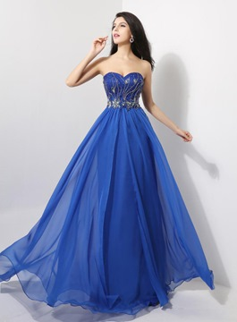 Ericdress brillant Sweetheart a-ligne pleine longueur Prom robe