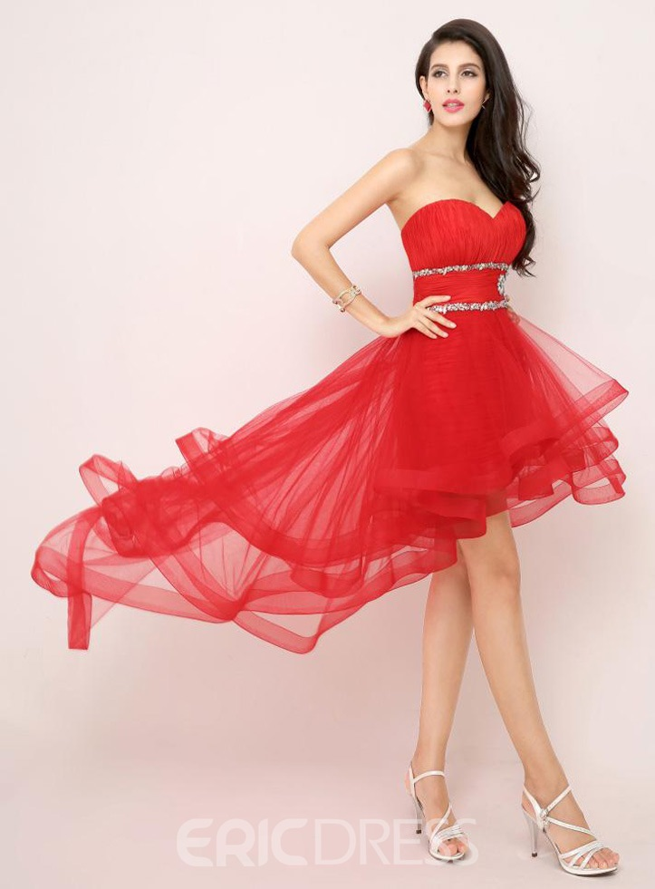 Ericdress Attractive A-Line Detachable Asymmetric Length Cocktail Dress