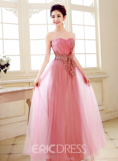 Ericdress Superb Sweetheart Appliques Full-Length Prom Dress
