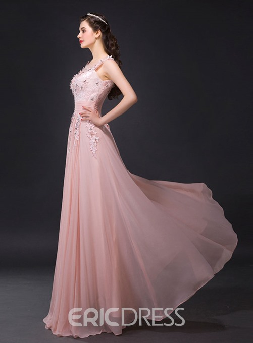 Ericdress Fantastic A-Line Floor-Length Appliques Evening Dress