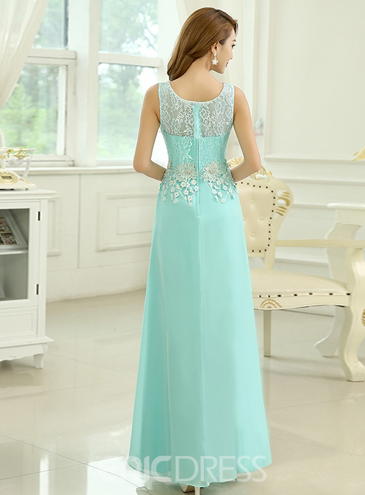 Ericdress A-Line Floor-Length Long Prom Dress