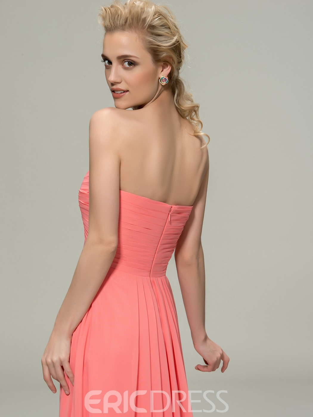 Classic Sweetheart Floor-Length Ruched Bridesmaid Dress