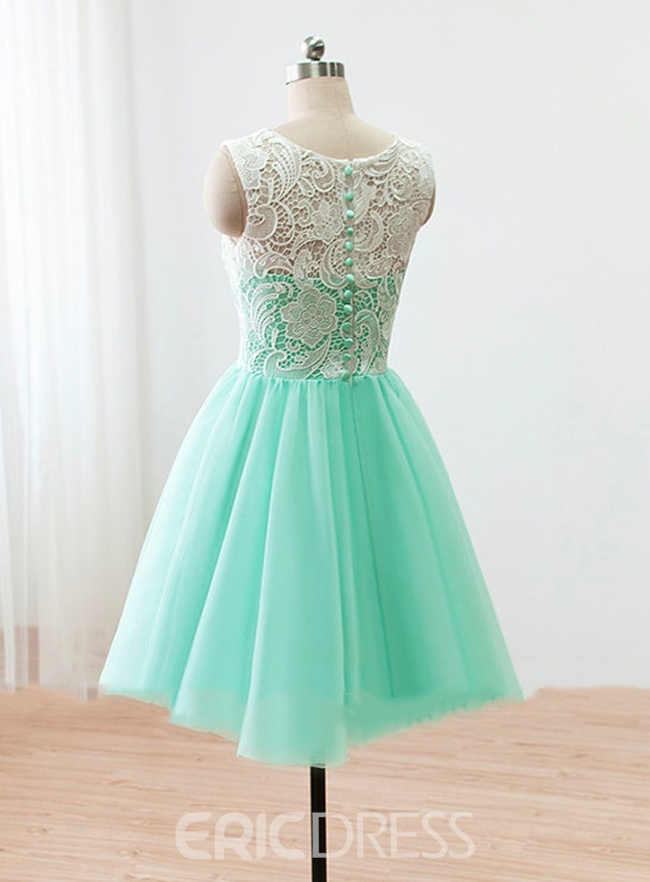 Ericdress Exquisite Round-Neck Lace A-Line Short Prom Dress