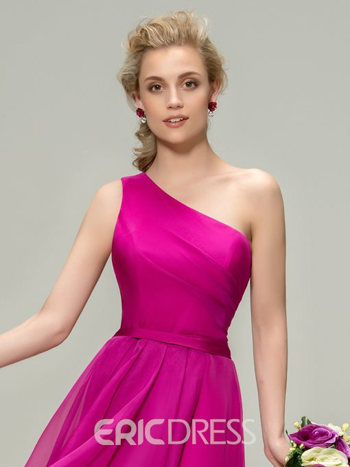 Ericdress One-Shoulder A-Line Beach Bridesmaid Dress