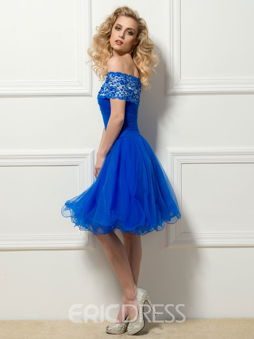 Pretty Off the Shoulder Lace Cocktail Dress
