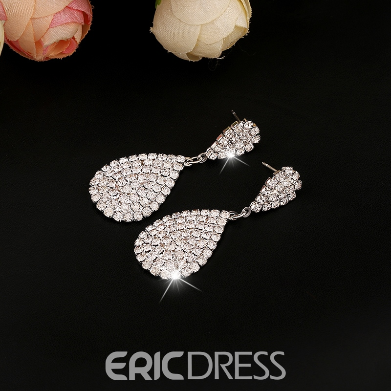 Ericdress Wassertropfen Strass Engagement Ohrringe